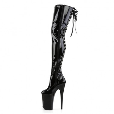 Fetish 20 cm boots Trans Crossdress back lacing 35-46 EU