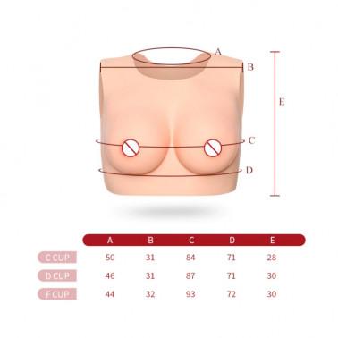 Lateks spieniony top bluzka Drag Queen Trans Crossdresser biust fetysz