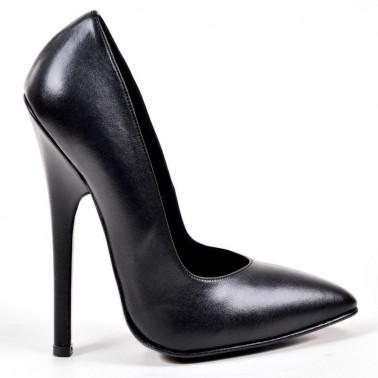 Fetisch Italienische Schwarze Stilettos Schuhe 35-46 EU
