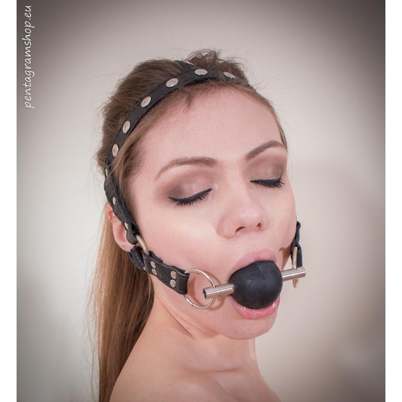"""Knebel Geschirr Fetisch  BDSM """"Be Quiet"""""""