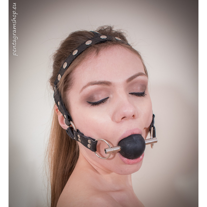 """Knebel uprząż fetysz BDSM """"Be Quiet"""""""