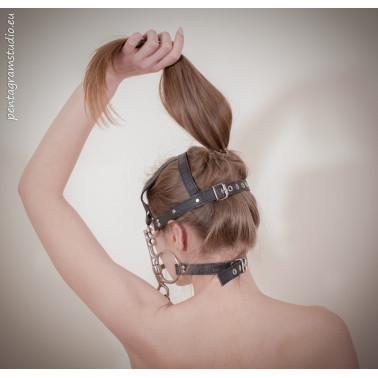 """Uprząż uzda końska maska BDSM """"Pony"""""""