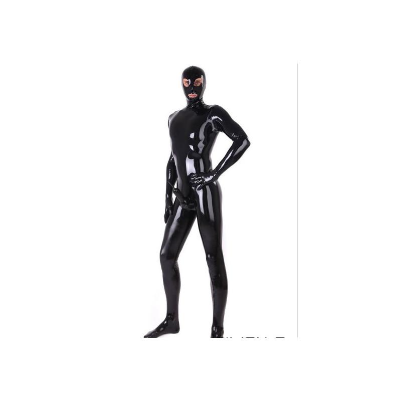 Latex catsuit mask gloves feet fetish BDSM