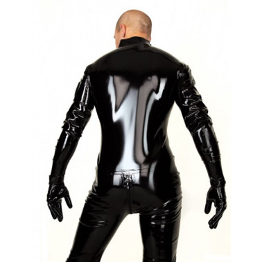 Latex catsuit with gloves and feet fetish BDSM