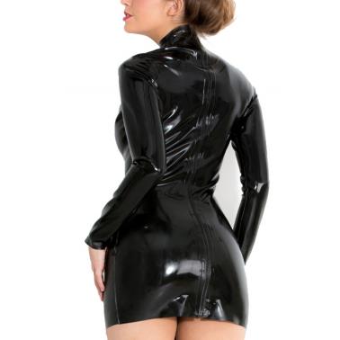 Lateks unisex sukienka mini kolory zamek tył fetysz BDSM