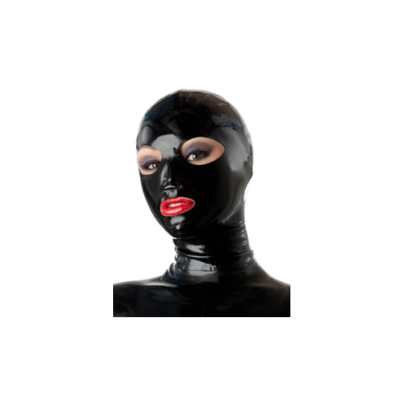 Fetisch latex Maske mit Augen und Mund