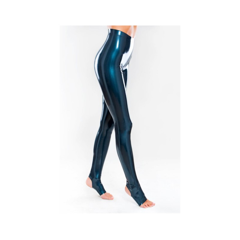 Latex leggings trousers with stirrups fetish BDSM