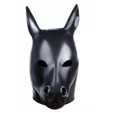 """Maska lateks """"koń"""" zwierzę przebranie fetysz BDSM"""