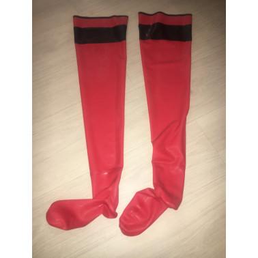 Latex long stockings hold ups with stirrups fetish BDSM