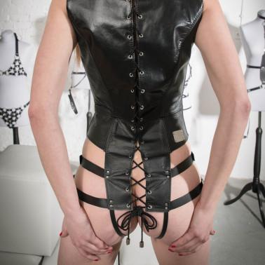"""Fetisch Body BDSM """"Caged"""" mit Gitter Riemen"""
