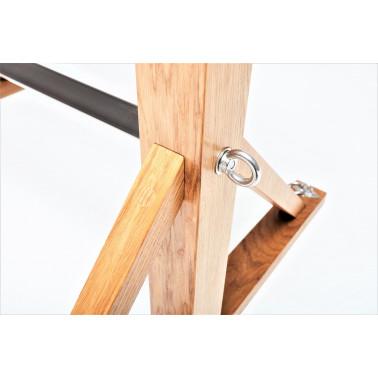 Bondage oak lock stocks stand fetish BDSM
