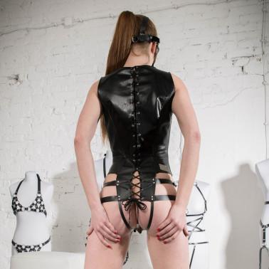 "Body z paskami klatka fetysz BDSM ""Caged"""