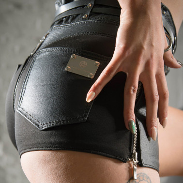 "Unisex pants shorts back zipper ""Missy"""