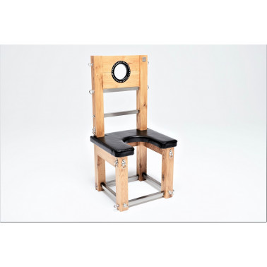 Dębowe luksusowe siedzisko tron krzesło fetysz BDSM