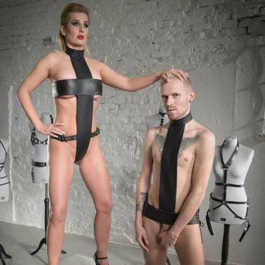 "Female harness fetish BDSM ""Crucifed for Her"""