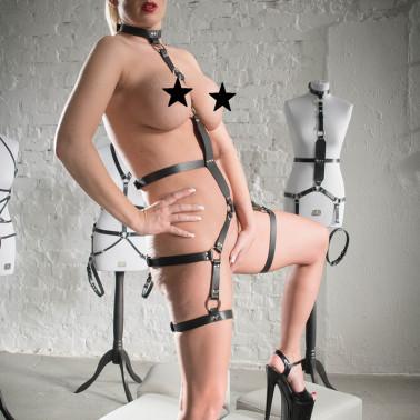 """Leather harness fetish BDSM """"Crusader"""""""