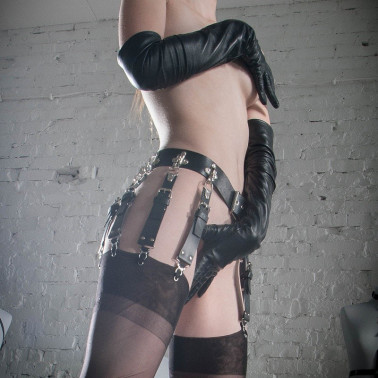 """Garter stocking belt single clips """"Fetish Locks"""""""