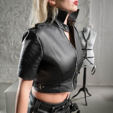 """Kurzes Leder fetisch top """"Sexy Dominatrix"""""""