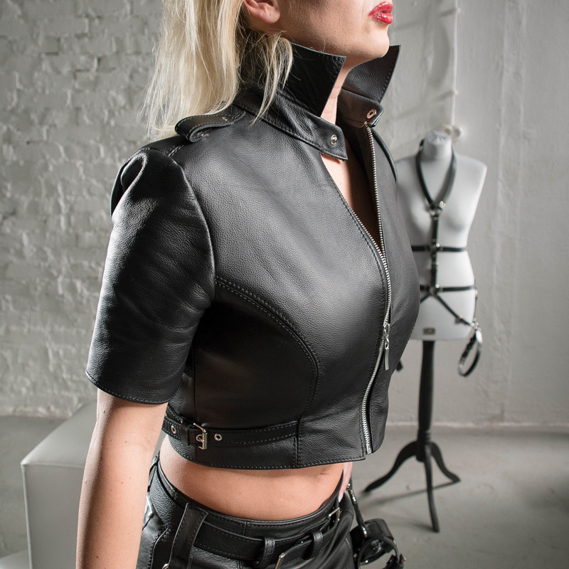 "Krótki top bluzka fetysz BDSM ""Sexy Dominatrix"""