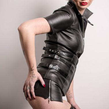 "Langes Leder unisex fetisch top ""Dominatrix"""