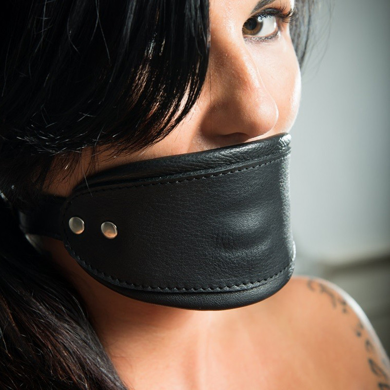 """Leather BDSM profile mouth mask """"Silience"""""""
