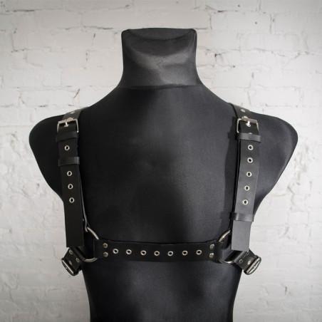"Leather belt harness man gay trans ""Romans Pride"""