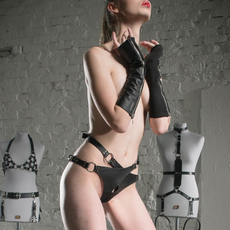 "Female harness fetish BDSM ""Crucifed for Her"""