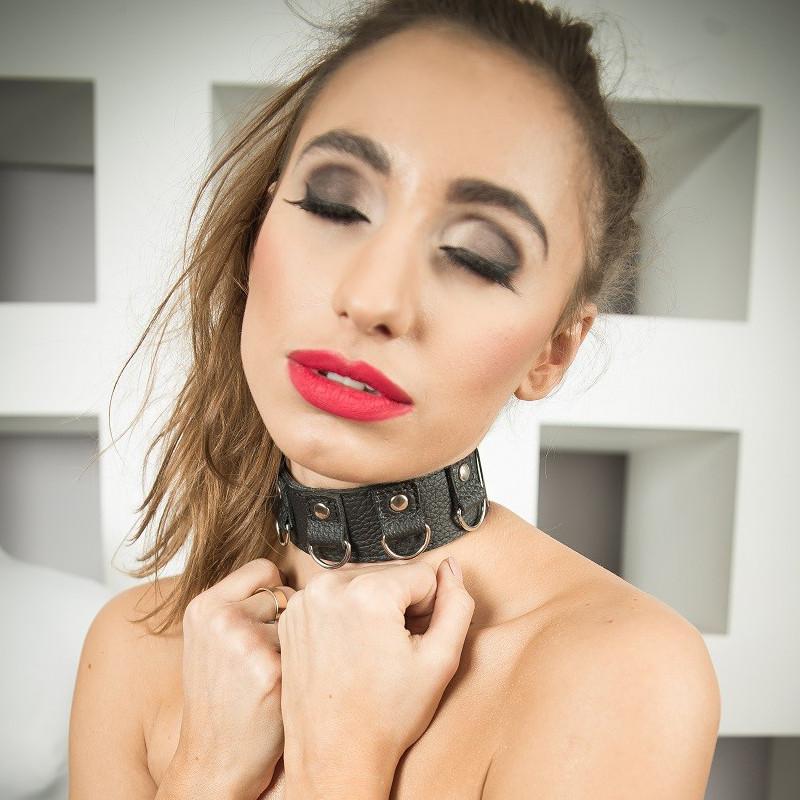 """Skórzana szeroka bransoletka z kieszonka fetysz BDSM """"Treasure"""""""