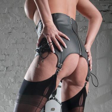 """Leder Gürtelstrumpfgürtel """"Black Tie Woman"""""""