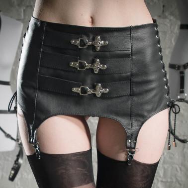 "Pas pończochy girdle fetysz BDSM ""Three locks"""