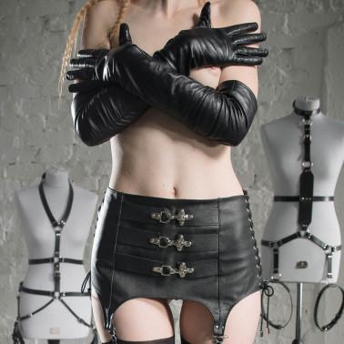 """Girdle stocking belt fetish BDSM """"Three locks"""""""