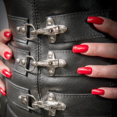 """Pas do pończoch girdle cztery zamki BDSM """"Four Locks"""""""