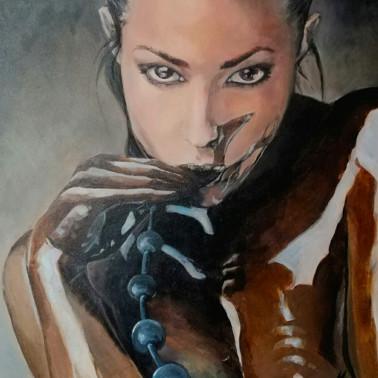 "Kinky fetish acrylic paint ""Dark queen"""