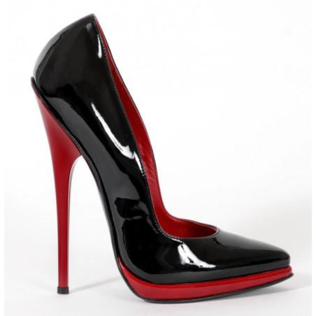 Unisex luxury fetish black red pumps 35-46 EU