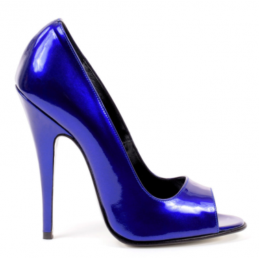 Blau metallic Lack Leder Fetisch Pumps 35-46 EU