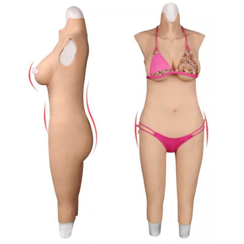 Foam latex suit Trans Drag Queen artificial chest bust fetish