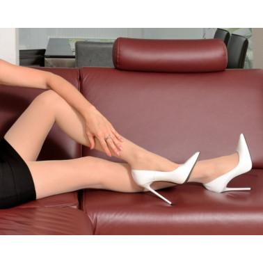 Classy Italian white unisex fetish high heels 35-47 EU
